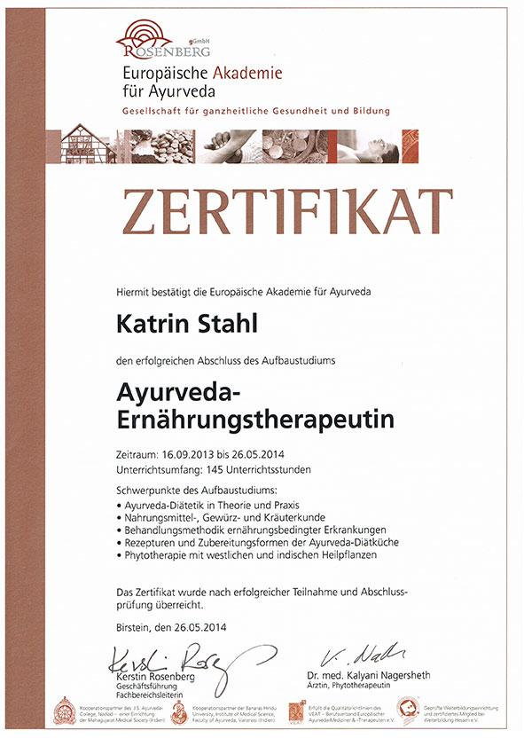 Tridosha - Ayurveda Zentrum Brandenburg - Ernährungsberatung